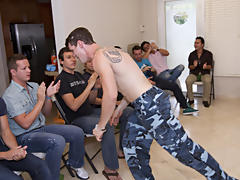 Gay group sex party and gay...