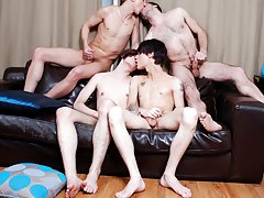 Group gay sex and men group masturbation at Staxus