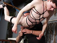 Male bondage art adult and male gyno stirrups bondage - Boy Napped!
