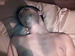 Two white guys top asian twink and twinks cup in ass - at Boy Feast!