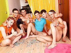 Group pissing guys and gay...