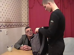 And secondly, because he had to meet with his old tutor whom he didn't like at all very mature male sex