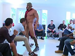 Gay group sex orgy and gay...