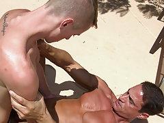 Twinks and older men shower and buff men kissing at Bang Me Sugar Daddy
