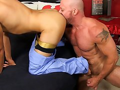 Gay man gets dick sucked by calf and naked young american men at Bang Me Sugar Daddy