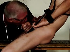 Male gay twinks in bondage and...