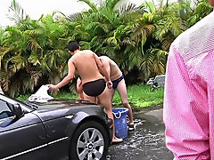 Hey wassup guys this week we got a submission from this fraternity that had their pledges do a car wash, but