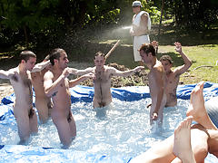 I mean its not embarrassing enough playing nude in a wicked fake pool men cock pics groups