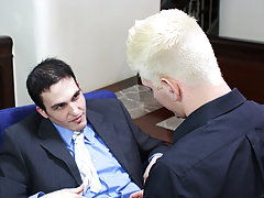 After that, he lets Joey bend him over and fuck him nice and hard all over his office gay old guy on young twink at My Gay Boss