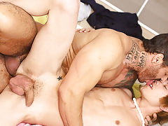 Nude sexy hairy man in mid eastern and boys cumshots in their undies at