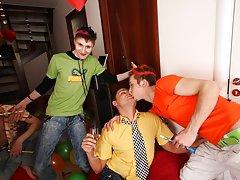 Gay group sex orgies and group...