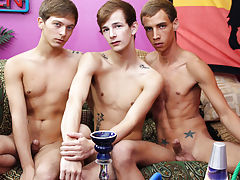 Gay fisting groups and group pissing guys at Sausage Party