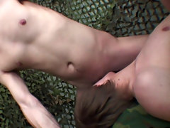 He can't live without getting his taut booty put to test with some hard fucking and having a pair of rigid knobs penetrate his narrow anus has al