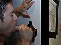Naked gay daddy getting blowjob...