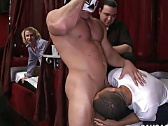 College boys get exams and straight boys bulge video at Sausage Party