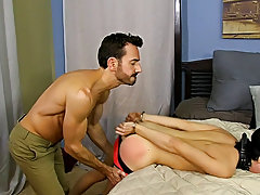 Once he is hard as a rock, Bryan lays into Kyler's ass, slamming his aperture until the lad is wailing for more hardcore gay muscle fuck at Bang