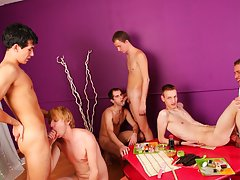 Anal group orgy gay and...