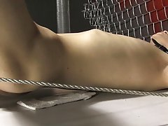 Roxy loves each minute of this hawt slavery scene gay sex first time