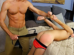 When Bryan Slater has a stressful day at work, this guy comes home and takes it out on his little bondman boy, Kyler Moss hardcore gay thai at Bang Me
