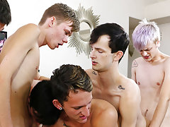 Gay male twink enema and russian...