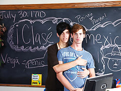 Tall twink boys and gay twinks wearing socks photos at Teach Twinks