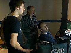 Jason Alcok helps his bearded scene mate, Harry Cox, get hard before their scene twinks teen boy sex post at Teach Twinks