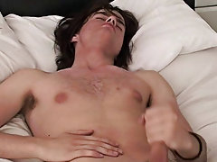He starts lazily stripping, and caressing his crotch, its not lengthy in advance of Kristian is hard and can not wait to receive his biggest tool with