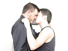 Gay guys kissing and having fun...
