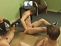 Nude gay male groups and gay group sex in public