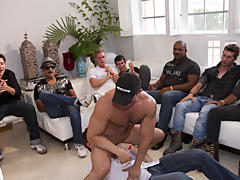 Mature gay group sex and male...
