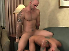 Gorgeous hunks shaved cocks jerk...