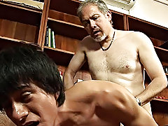 See the broad-shouldered boy start jacking off his determined meat again as his older lover works that hole asian playboy bunny chick