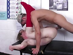 Young twinks foot fuck at Staxus