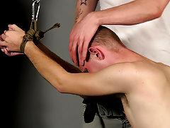 Naked boy bondage and gay male...