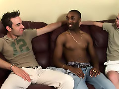 Interracial creampie gay pic...