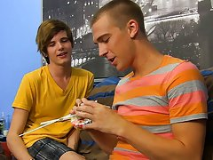 Uncut twink junk and older men swallowing young twinks load