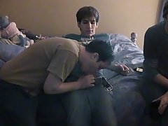 Eventually James climbs on Chad's dick, cumming while this guy rides it teen boys first gay experience - at Boy Feast!