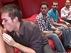 Straight guy messing around with a gay guy video and teen brother blowjob voyeur at Sausage Party