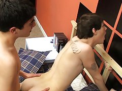Gay teen twink takes it up the...