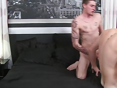 Gay group eat straight cock and...