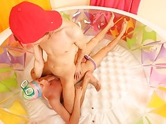 Pretty nice surprise is prepared for Alex today his first gay sex jamie at Boys Pee Pee