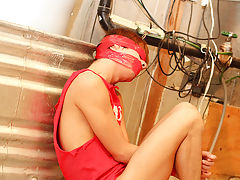 Kyler is bound, blindfolded and...