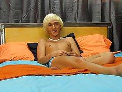 Under a big mop of near-white hair is the very cute Ryan Morrison xxx gay twink thumbnail photos at Boy Crush!