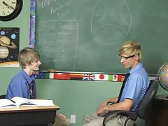 He demonstrates by stuffing his teacher's cock in his mouth which quickly turns into a lesson on how useful his cute little twink ass is too free