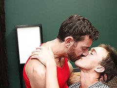 Gay boys underwear kissing photo...