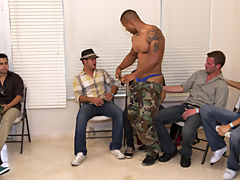 Gay group masturbation video and...