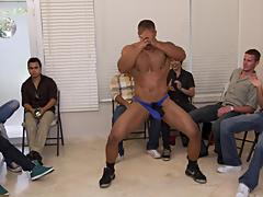 Gay group masturbation video and...