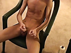 Jared is nervous about his 1st time wanking on camera