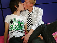 Gay daddy emo boy and large objects in male ass pics at EuroCreme