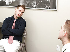 The tall blonde strips them both as he sucks Tyler's dick hot gay twink movies at My Gay Boss
